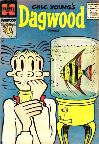 Cover for Chic Young's Dagwood Comics (Harvey, 1950 series) #58