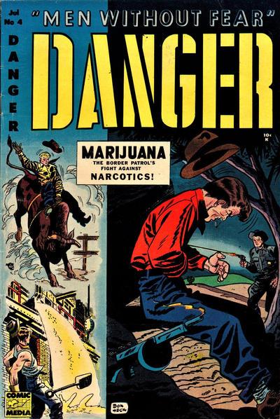 Cover for Danger (Comic Media, 1953 series) #4