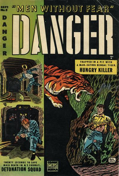 Cover for Danger (Comic Media, 1953 series) #5