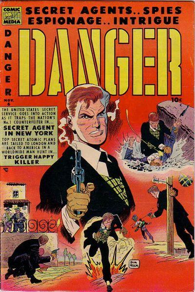Cover for Danger (Comic Media, 1953 series) #6