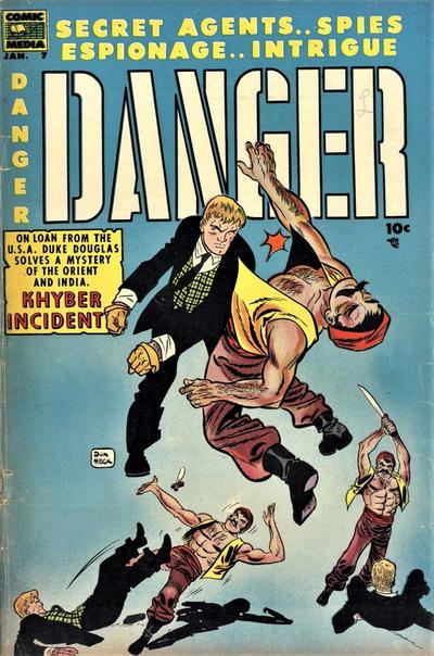 Cover for Danger (Comic Media, 1953 series) #7
