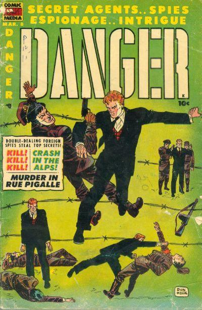 Cover for Danger (Comic Media, 1953 series) #8