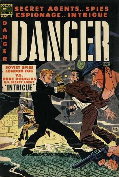Cover for Danger (Comic Media, 1953 series) #9