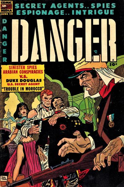Cover for Danger (Comic Media, 1953 series) #10
