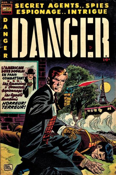 Cover for Danger (Comic Media, 1953 series) #11