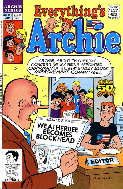 Cover for Everything's Archie (Archie, 1969 series) #156