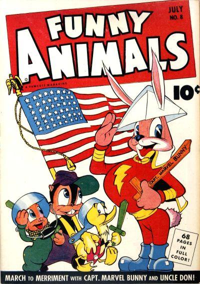 Cover for Fawcett's Funny Animals (Fawcett, 1942 series) #8