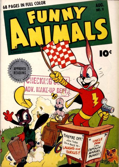 Cover for Fawcett's Funny Animals (Fawcett, 1942 series) #9