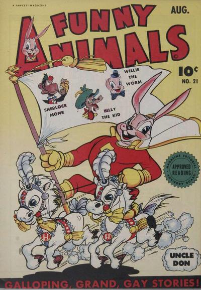 Cover for Fawcett's Funny Animals (Fawcett, 1942 series) #21