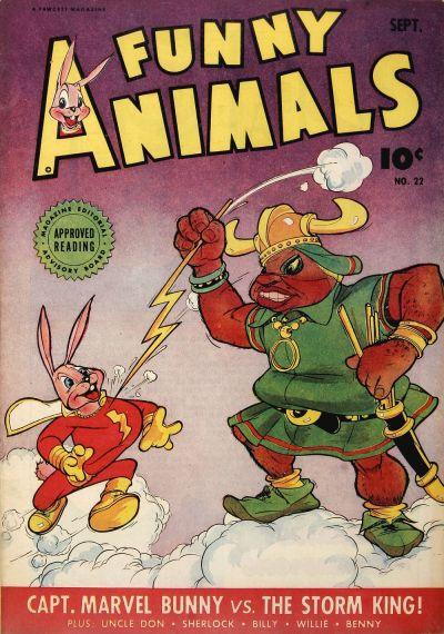 Cover for Fawcett's Funny Animals (Fawcett, 1942 series) #22