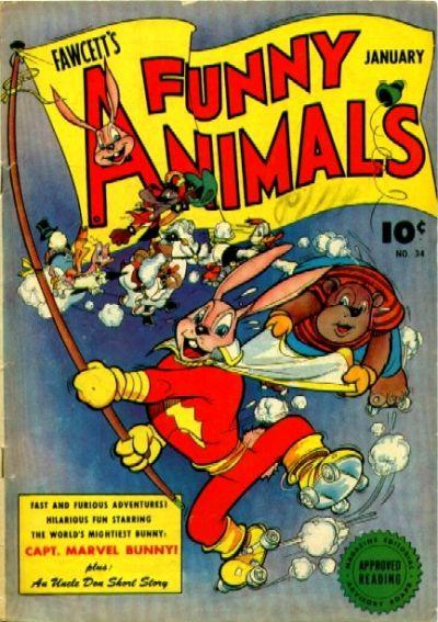 Cover for Fawcett's Funny Animals (Fawcett, 1942 series) #34