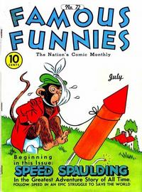 Cover Thumbnail for Famous Funnies (Eastern Color, 1934 series) #72