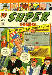 Cover Thumbnail for Super Comics (Dell, 1943 series) #74