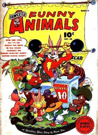Cover for Fawcett's Funny Animals (Fawcett, 1942 series) #36