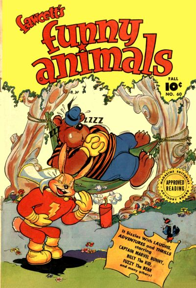 Cover for Fawcett's Funny Animals (Fawcett, 1942 series) #60