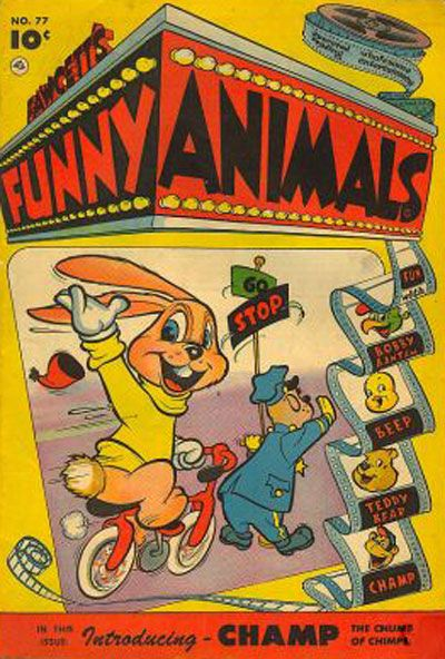 Cover for Fawcett's Funny Animals (Fawcett, 1942 series) #77