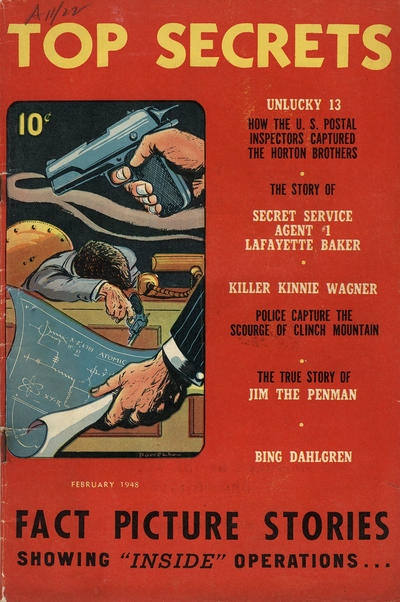 Cover for Top Secrets (Street and Smith, 1947 series) #v1#2