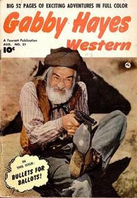Cover Thumbnail for Gabby Hayes Western (Fawcett, 1948 series) #21