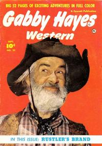 Cover Thumbnail for Gabby Hayes Western (Fawcett, 1948 series) #22