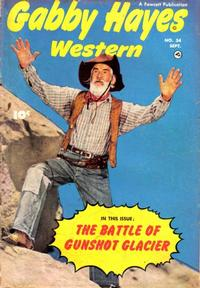 Cover Thumbnail for Gabby Hayes Western (Fawcett, 1948 series) #34