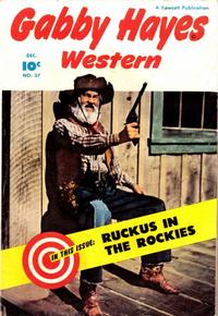 Cover Thumbnail for Gabby Hayes Western (Fawcett, 1948 series) #37