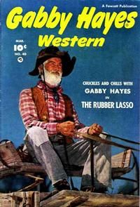 Cover Thumbnail for Gabby Hayes Western (Fawcett, 1948 series) #40