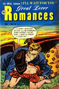 Cover Thumbnail for Great Lover Romances (Toby, 1951 series) #12