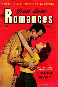Cover Thumbnail for Great Lover Romances (Toby, 1951 series) #17