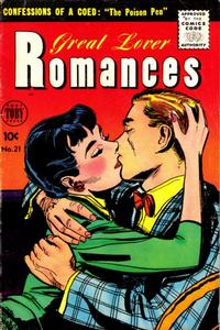 Cover Thumbnail for Great Lover Romances (Toby, 1951 series) #21