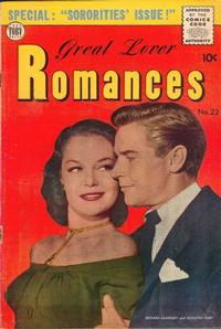 Cover Thumbnail for Great Lover Romances (Toby, 1951 series) #22