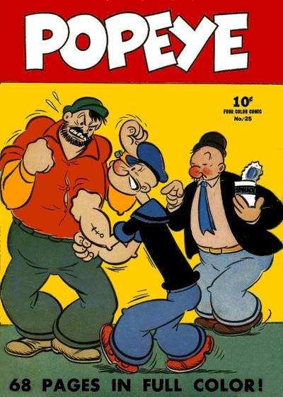 Cover for Four Color (Dell, 1939 series) #25 - Popeye