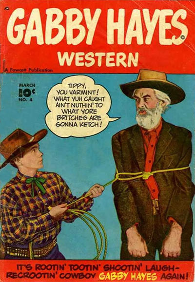 Cover for Gabby Hayes Western (Fawcett, 1948 series) #4