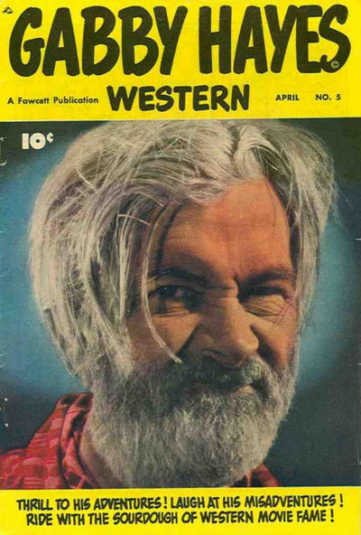 Cover for Gabby Hayes Western (Fawcett, 1948 series) #5