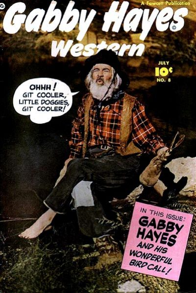 Cover for Gabby Hayes Western (Fawcett, 1948 series) #8