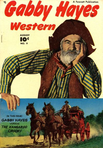 Cover for Gabby Hayes Western (Fawcett, 1948 series) #9