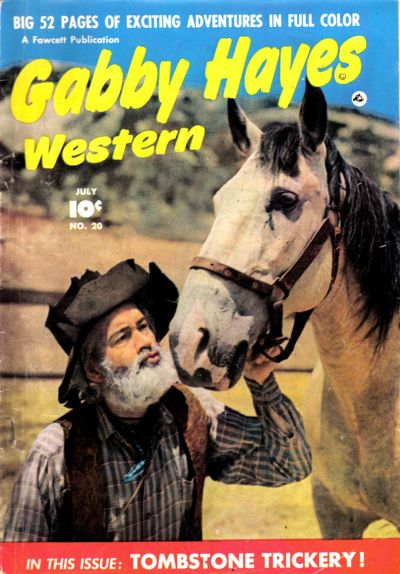 Cover for Gabby Hayes Western (Fawcett, 1948 series) #20