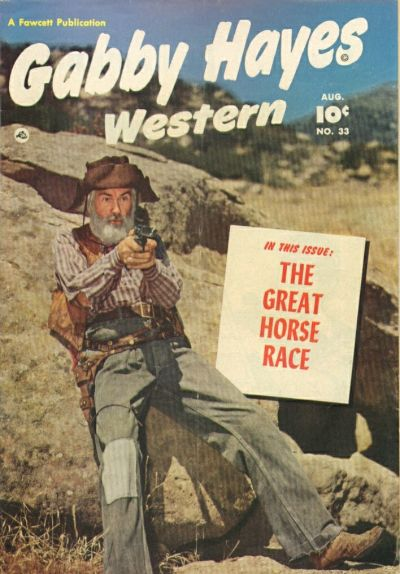 Cover for Gabby Hayes Western (Fawcett, 1948 series) #33