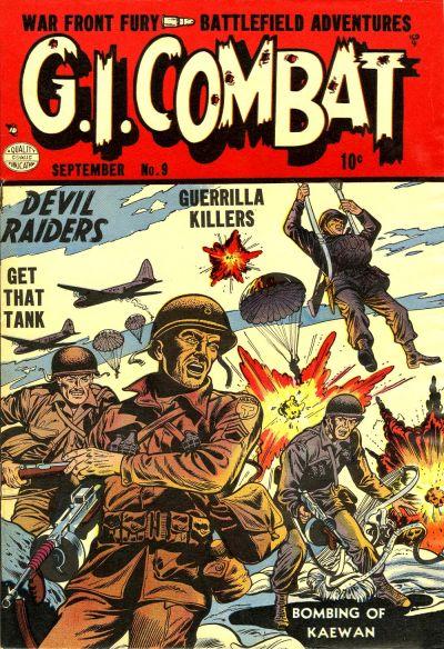 Cover for G.I. Combat (Quality Comics, 1952 series) #9