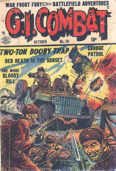 Cover for G.I. Combat (Quality Comics, 1952 series) #10