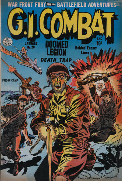 Cover for G.I. Combat (Quality Comics, 1952 series) #20
