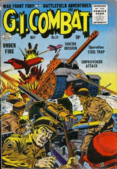 Cover for G.I. Combat (Quality Comics, 1952 series) #24