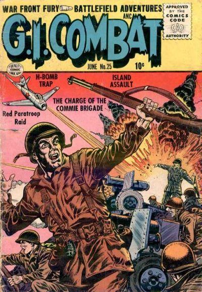 Cover for G.I. Combat (Quality Comics, 1952 series) #25