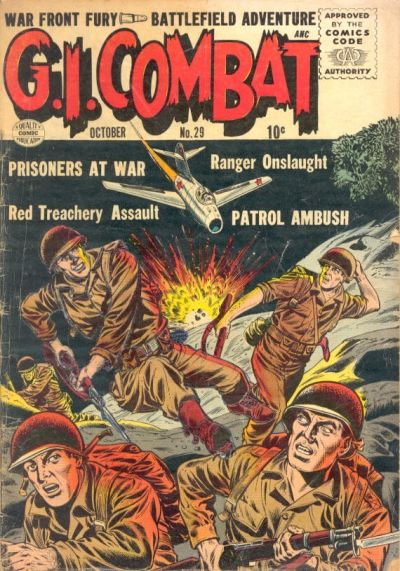 Cover for G.I. Combat (Quality Comics, 1952 series) #29