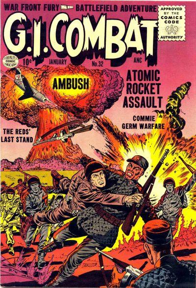 Cover for G.I. Combat (Quality Comics, 1952 series) #32