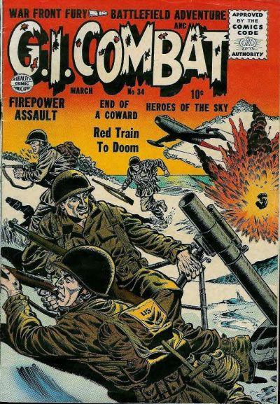 Cover for G.I. Combat (Quality Comics, 1952 series) #34