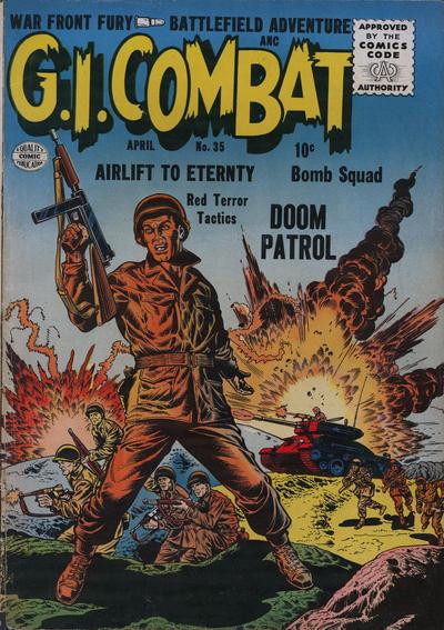 Cover for G.I. Combat (Quality Comics, 1952 series) #35