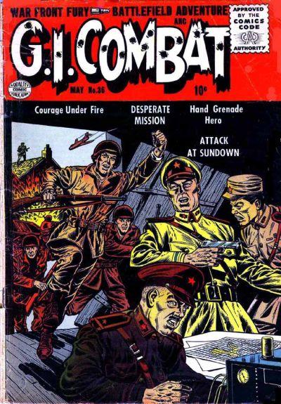 Cover for G.I. Combat (Quality Comics, 1952 series) #36