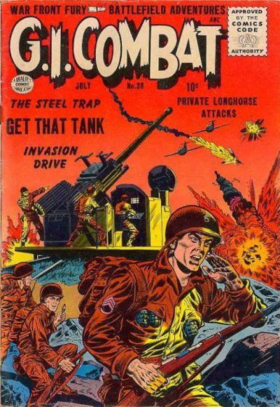 Cover for G.I. Combat (Quality Comics, 1952 series) #38