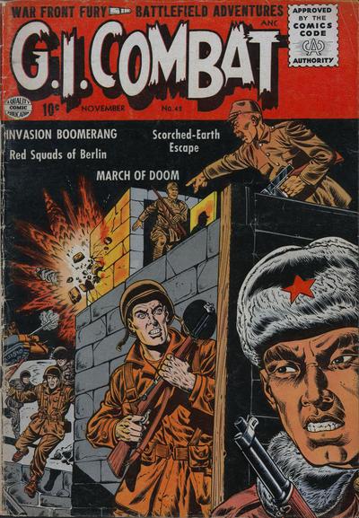 Cover for G.I. Combat (Quality Comics, 1952 series) #42