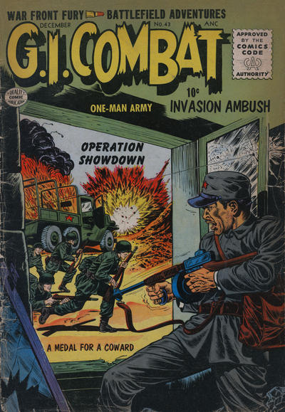 Cover for G.I. Combat (Quality Comics, 1952 series) #43